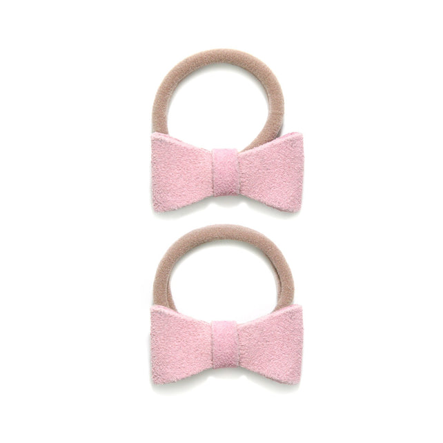 Zutano baby Bow Suede Baby Ponytail Bow Set - Hot Pink
