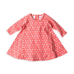Zutano baby Dress Apple Basket Raglan Trapeze Dress