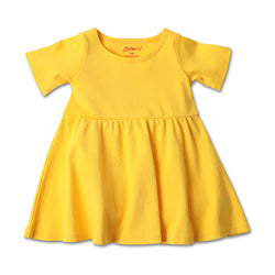 Zutano baby Dress Baby Forever Dress - Yellow