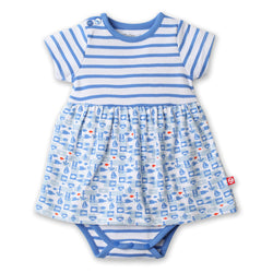 Zutano baby Dress Bateau Romper Dress