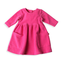 Zutano baby Dress Cozie Dress - Fuchsia