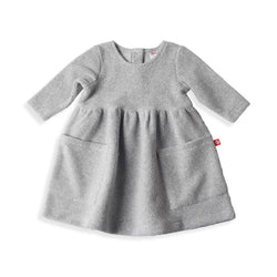 Zutano baby Dress Cozie Dress - Heather Gray