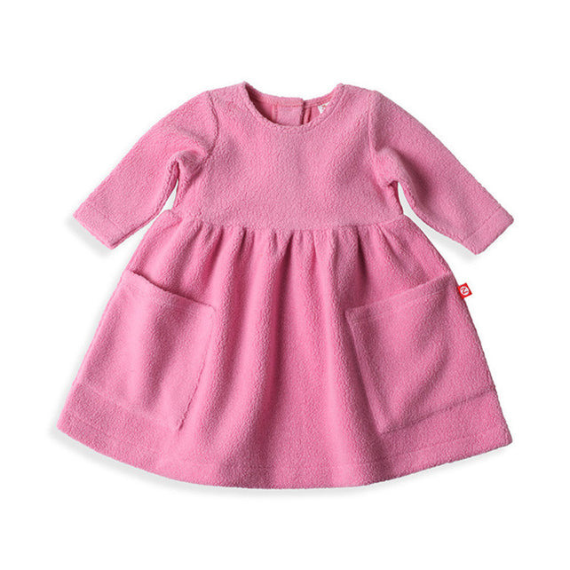 Zutano baby Dress Cozie Dress - Hot Pink