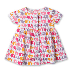 Zutano baby Dress Ellas Elephants Button Dress
