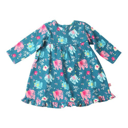 Zutano baby Dress Fairy Elephant Ruffle Little Dress