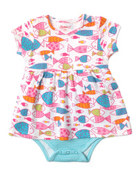 Zutano baby Dress Fish Romper Dress