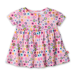 Zutano baby Dress Flower Shower Button Dress