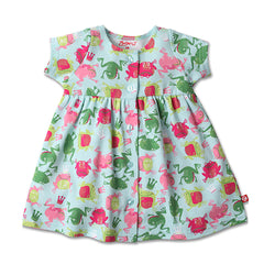 Zutano baby Dress Frog Princess Button Dress