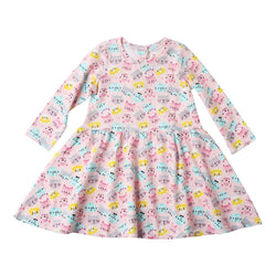 Zutano baby Dress Happy Cat L/S Forever Dress
