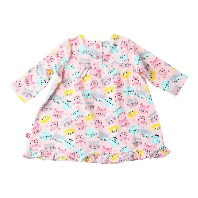 Zutano baby Dress Happy Cat L/S Ruffle Little Dress