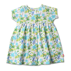 Zutano baby Dress Monkey Jungle Button Dress
