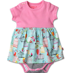 Zutano baby Dress Paradise Bird Baby Romper Dress