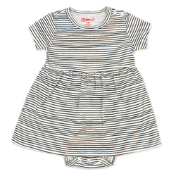 Zutano baby Dress Pencil Stripe Organic Cotton Romper Dress