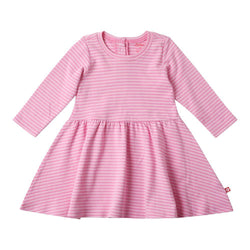Zutano baby Dress Pink Stripe L/S Forever Dress