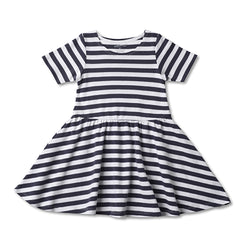 Zutano baby Dress Stripe Baby Forever Dress - Navy