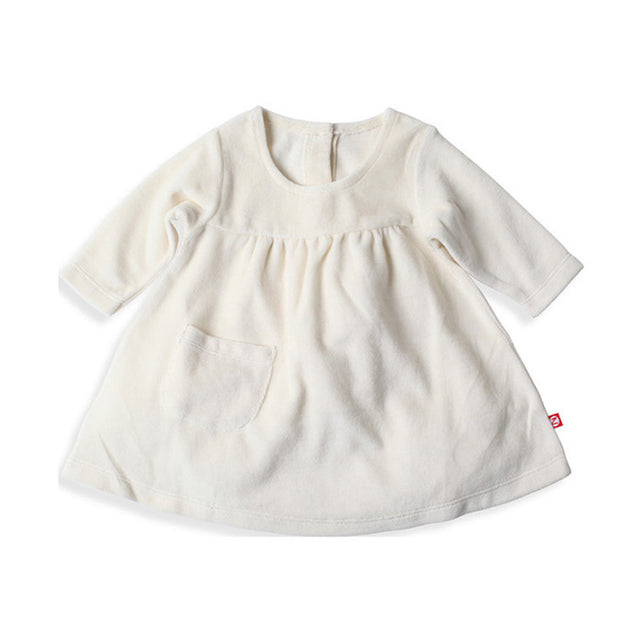Zutano baby Dress Velour Little Pocket Dress - Cream
