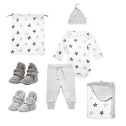 Zutano baby Gift Set Booties & More 6 Piece Baby Gift Set - Gray