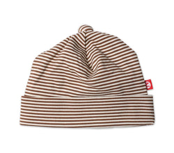Zutano baby Hat Candy Stripe Baby Beanie - Chocolate