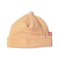 Zutano baby Hat Candy Stripe Baby Beanie - Orange