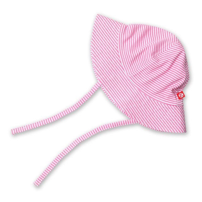 Zutano baby Hat Candy Stripe Sun Hat - Hot Pink