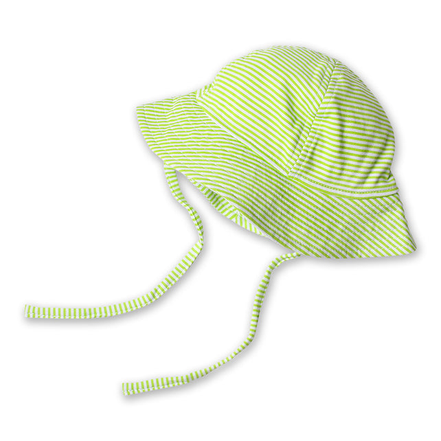 Zutano baby Hat Candy Stripe Sun Hat - Lime