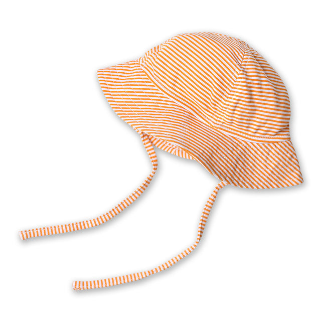 Zutano baby Hat Candy Stripe Sun Hat - Orange