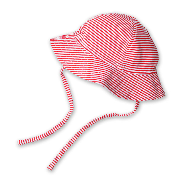 Zutano baby Hat Candy Stripe Sun Hat - Red