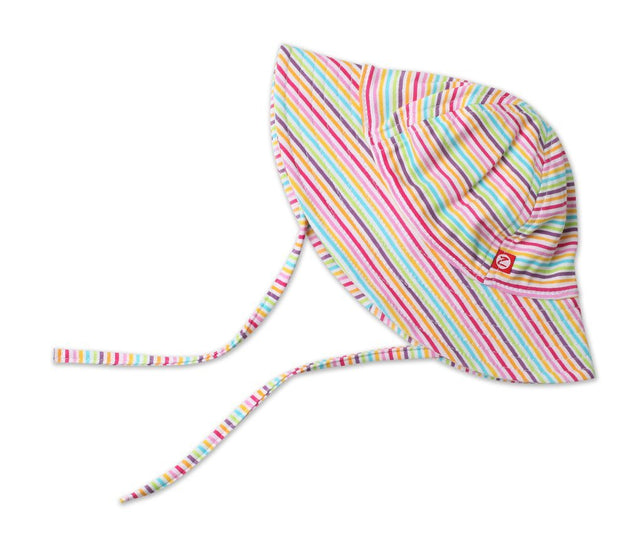 Zutano baby Hat Rainbow Stripe Sun Hat