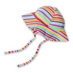 Zutano baby Hat Super Stripe Sun Hat
