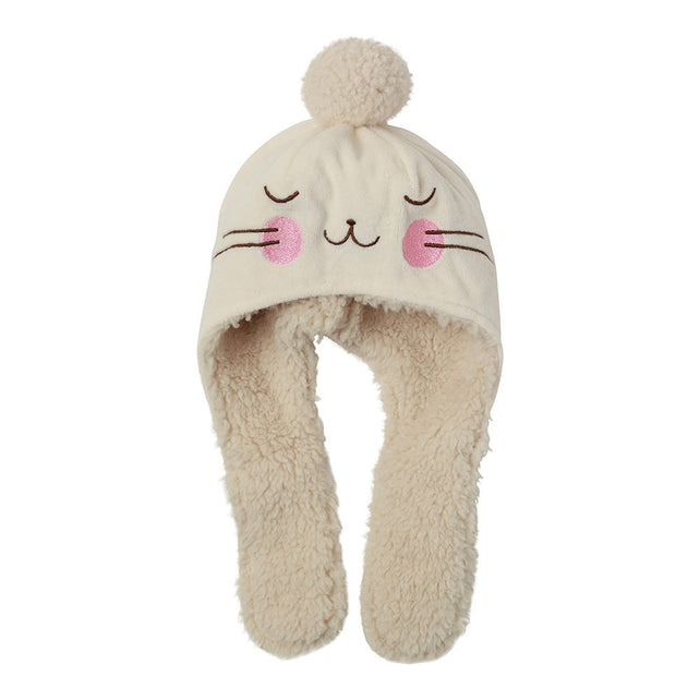 Zutano baby Hat Velour Bunny Hat - Cream