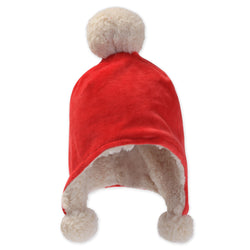 Zutano baby Hat Velour Pom Pom Hat - Red