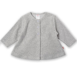 Zutano baby Jacket/Hoodie Cozie Swing Jacket - Heather Gray