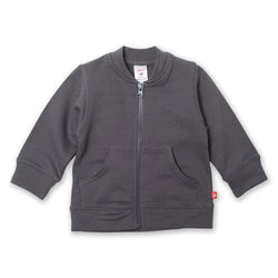 Zutano baby Jacket/Hoodie Terry Zipper Jacket - Gray