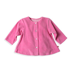 Zutano baby Jacket/Hoodie Velour Swing Jacket - Hot Pink