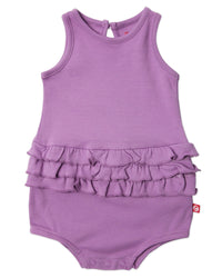 Zutano baby One Piece Baby Ruffle Romper - Orchid