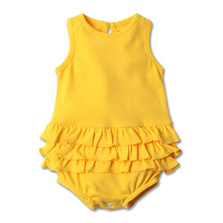 Zutano baby One Piece Baby Ruffle Romper - Yellow