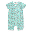 Zutano baby One Piece Baby Shark Organic Cotton Henley Bodysuit