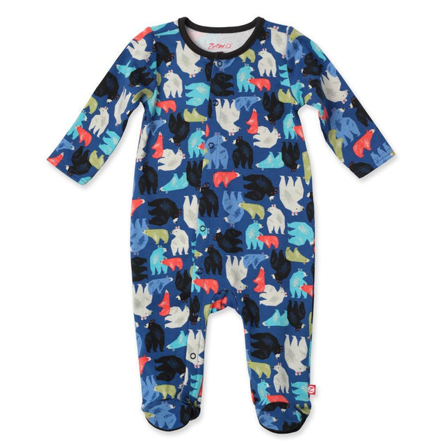 Zutano baby One Piece Big Bear Footie