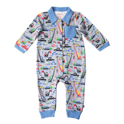 Zutano baby One Piece Big Dig L/S Romper