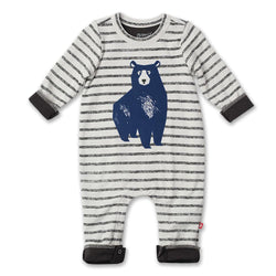 Zutano baby One Piece Blue Bear Snuggle Suit