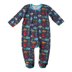 Zutano baby One Piece Bots Footie