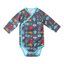 Zutano baby One Piece Bots L/S Body Wrap