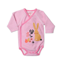 Zutano baby One Piece Bunny Tales L/S Body Wrap
