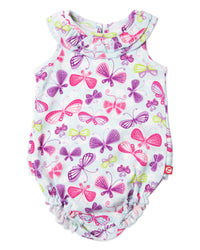 Zutano baby One Piece Butterfly Baby Ruffle Bubble