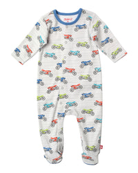 Zutano baby One piece Cafe Racer Footie