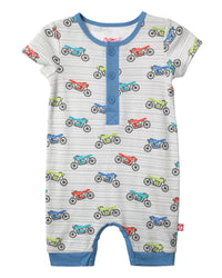Zutano baby One piece Cafe Racer Henley Bodysuit