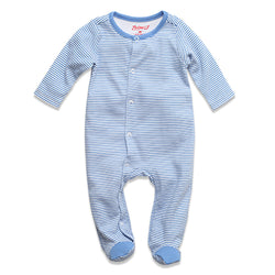 Zutano baby One Piece Candy Stripe Footie - Periwinkle