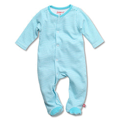 Zutano baby One Piece Candy Stripe Footie - Pool