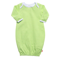 Zutano baby One Piece Candy Stripe Receiving Gown - Lime