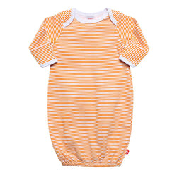 Zutano baby One Piece Candy Stripe Receiving Gown - Orange